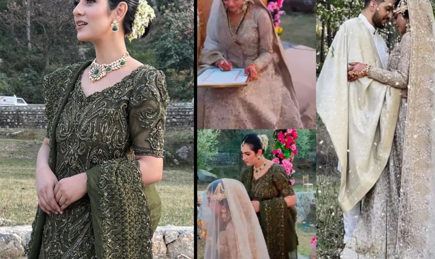 Minal Khan and Ahsan Mohsin Ikram on their Valima Ceremony Looks Beautiful